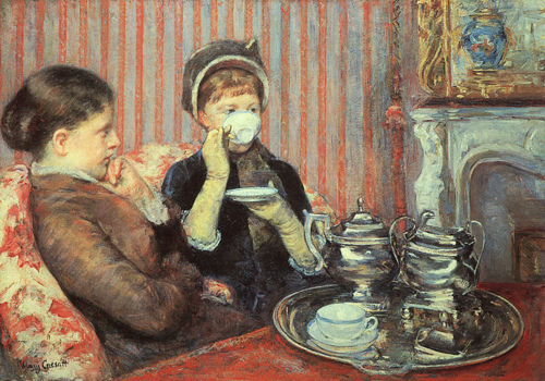 Tea in art focus on mary cassatt the teatropolitan times for In their paintings the impressionists often focused on